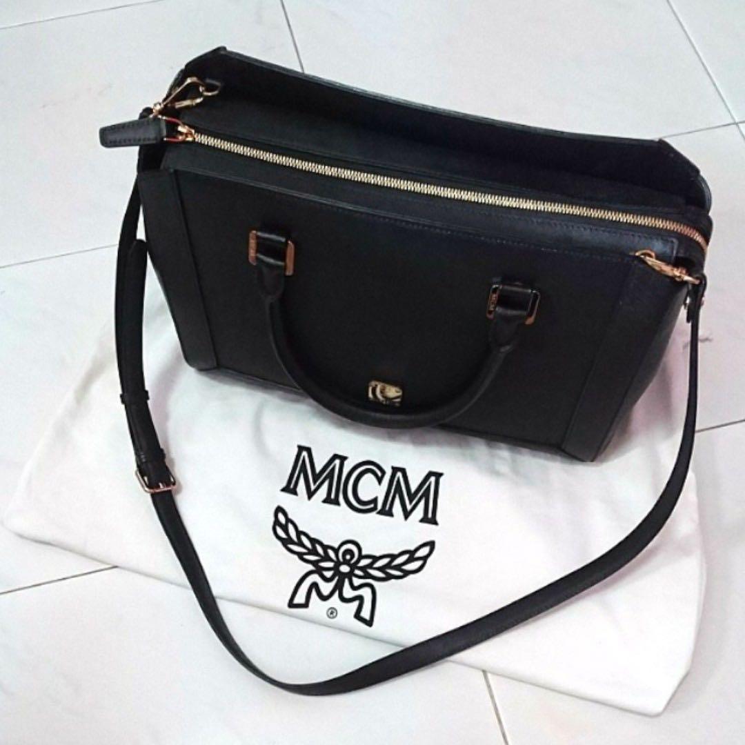 c73ea562ab3c MCM Black Leather 2-Way Bag (MWT 3ALN15 BK001), Luxury, Bags ...