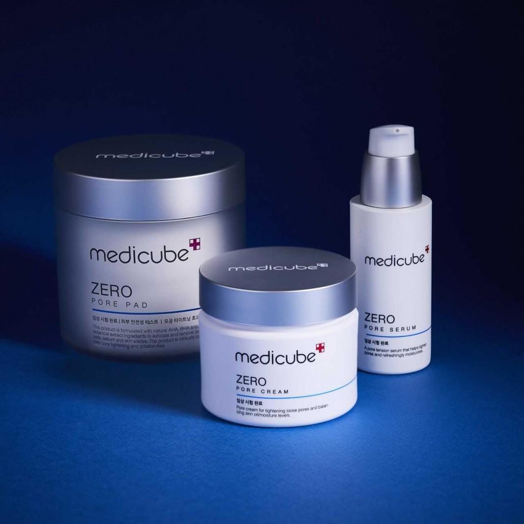 MEDICUBE Korea Zero Pore Serum and Cream - Pore Tightening Patented Ingredients for Poreless Skin