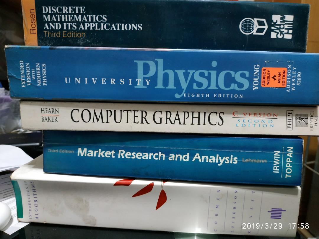 Physics, discrete math, computer graphics, market research, algorithm