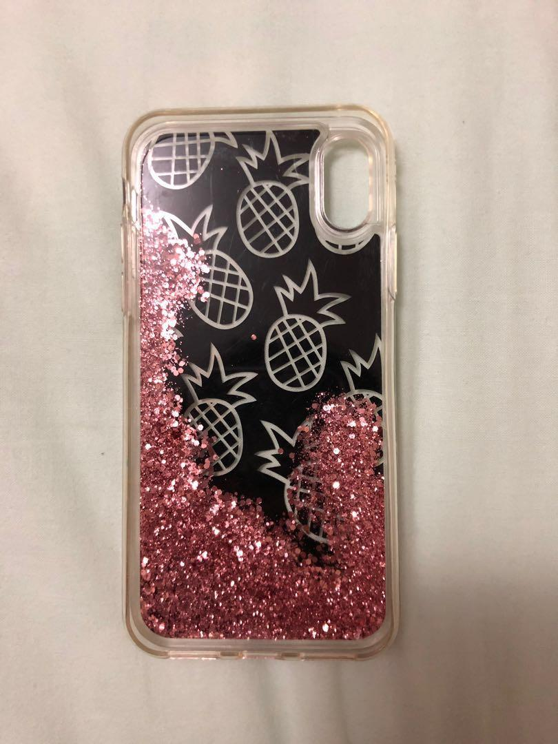 Pineapple with Glitters Case for iPhone X