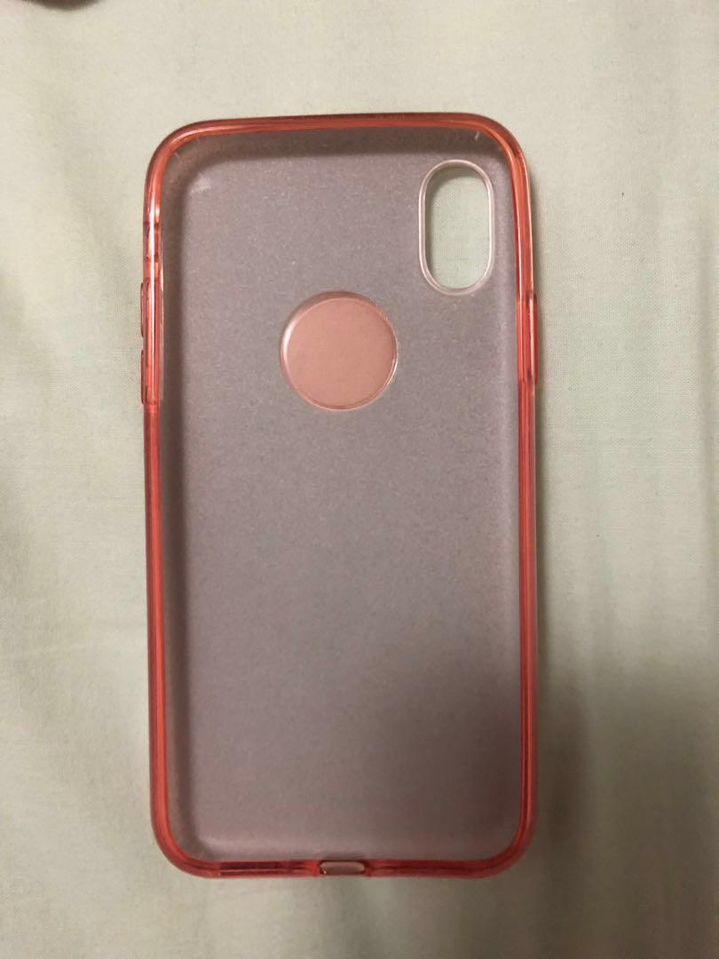 Pink Glittery Case for iPhone X