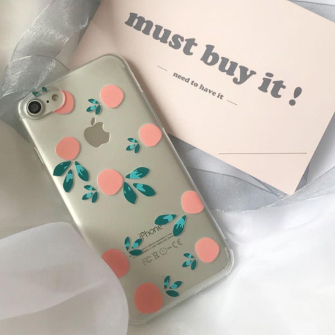 promo code 58793 99974 [PO] Aesthetic Orange Spring Summer Iphone clear case