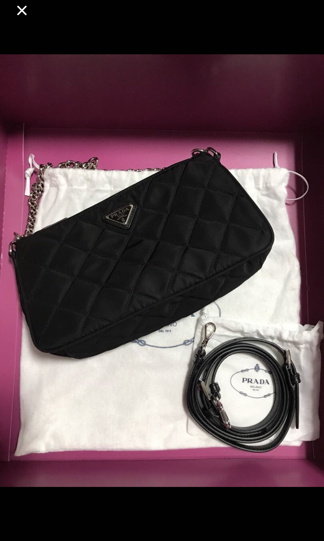 07a968556590 Prada handbag, Women's Fashion, Bags & Wallets, Handbags on Carousell