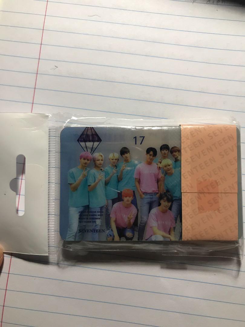 Seventeen transparent cards 25pcs