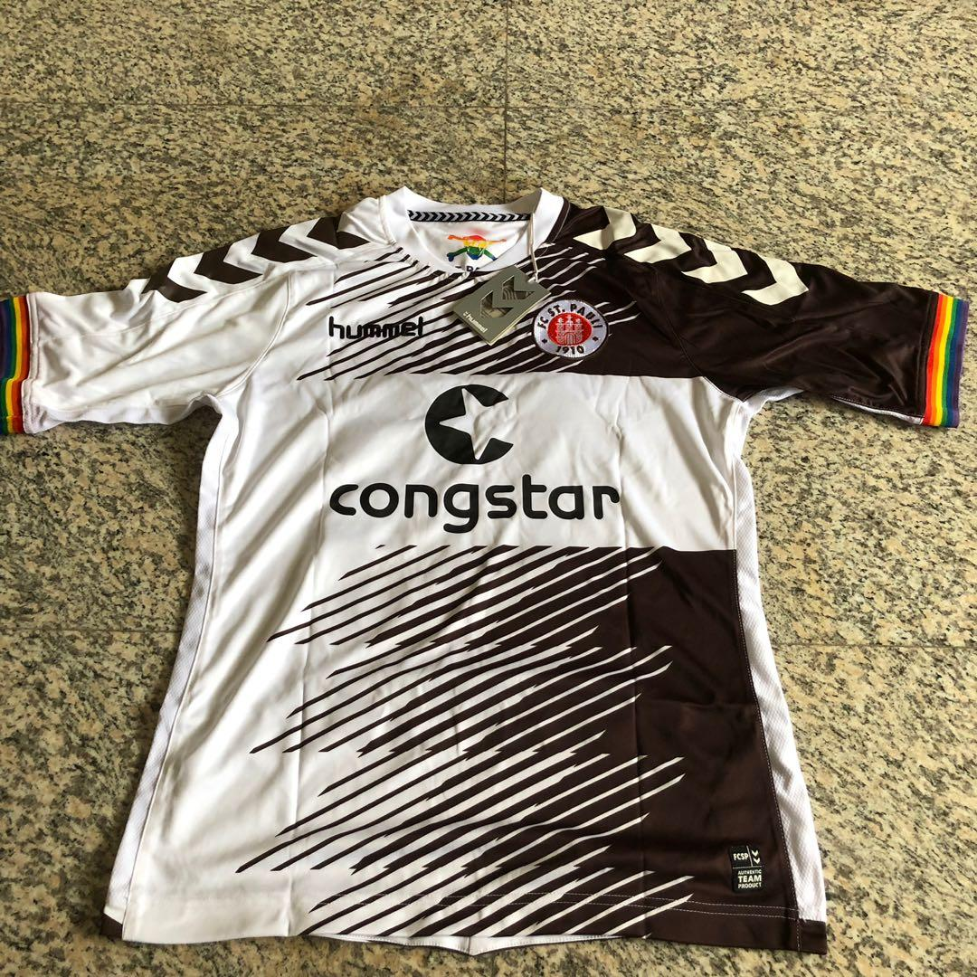 official photos 3aee0 7b46a St Pauli FC Away Jersey, Sports, Sports Apparel on Carousell