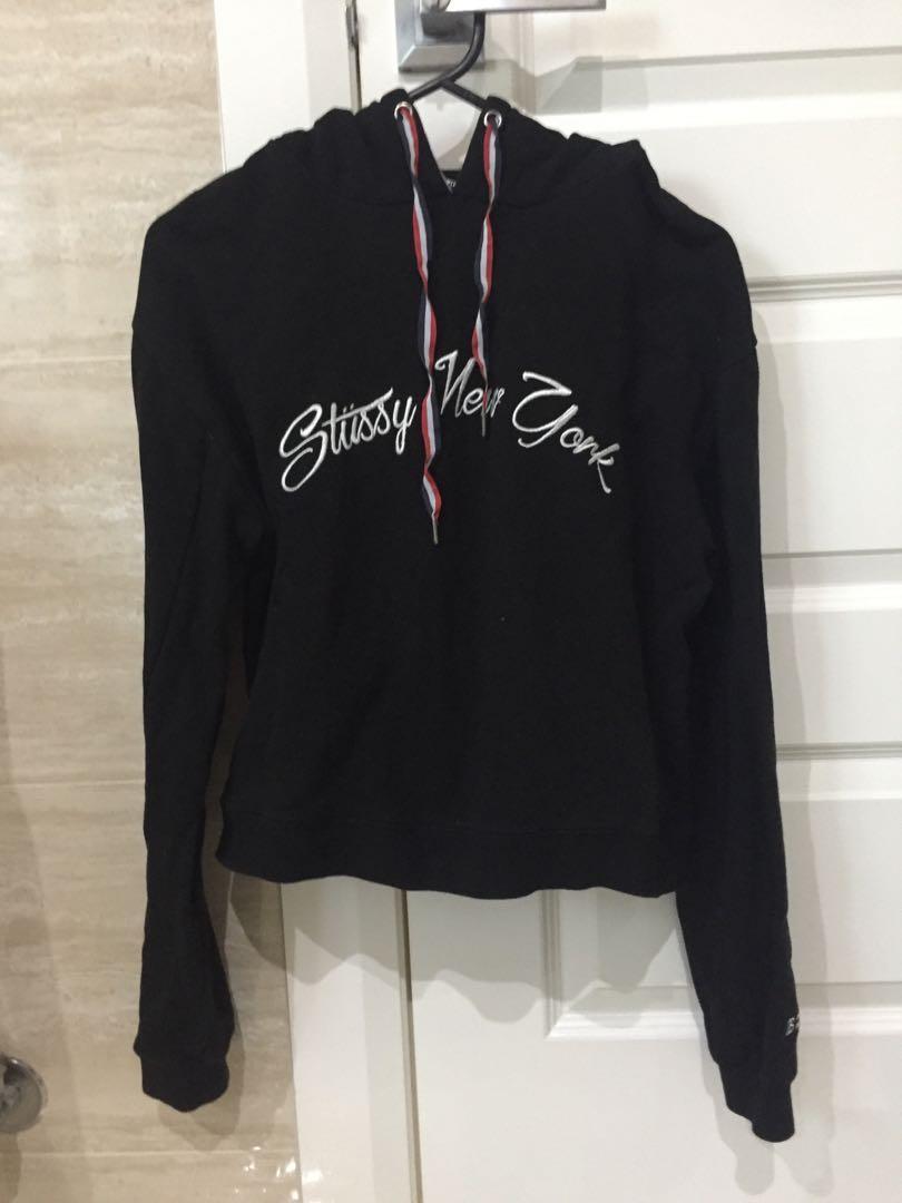 Stussy crop hoodie
