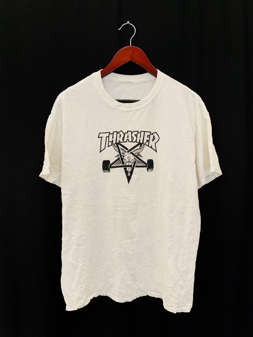 594a60ec9a28 Thrasher Skateboard Magazine 666 Logo Tshirt, Men's Fashion, Clothes, Tops  on Carousell