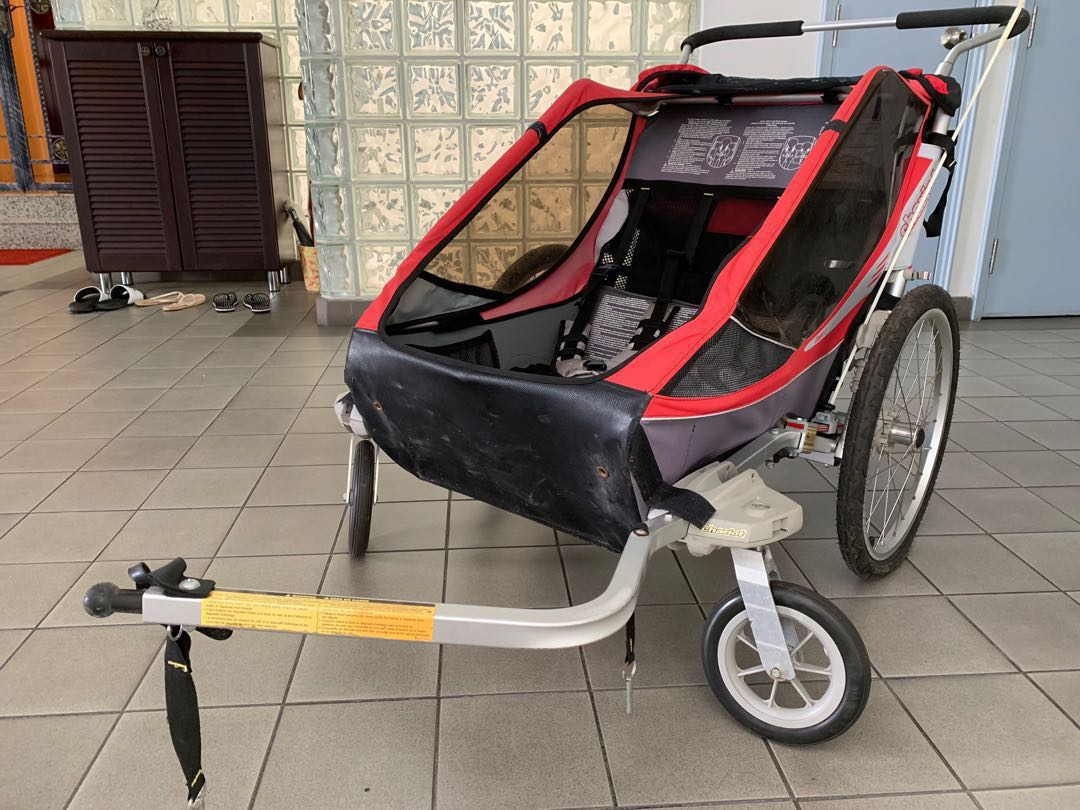 thule chariot cougar 2 kids bicycle trailer bicycles pmds bicycles others on carousell. Black Bedroom Furniture Sets. Home Design Ideas
