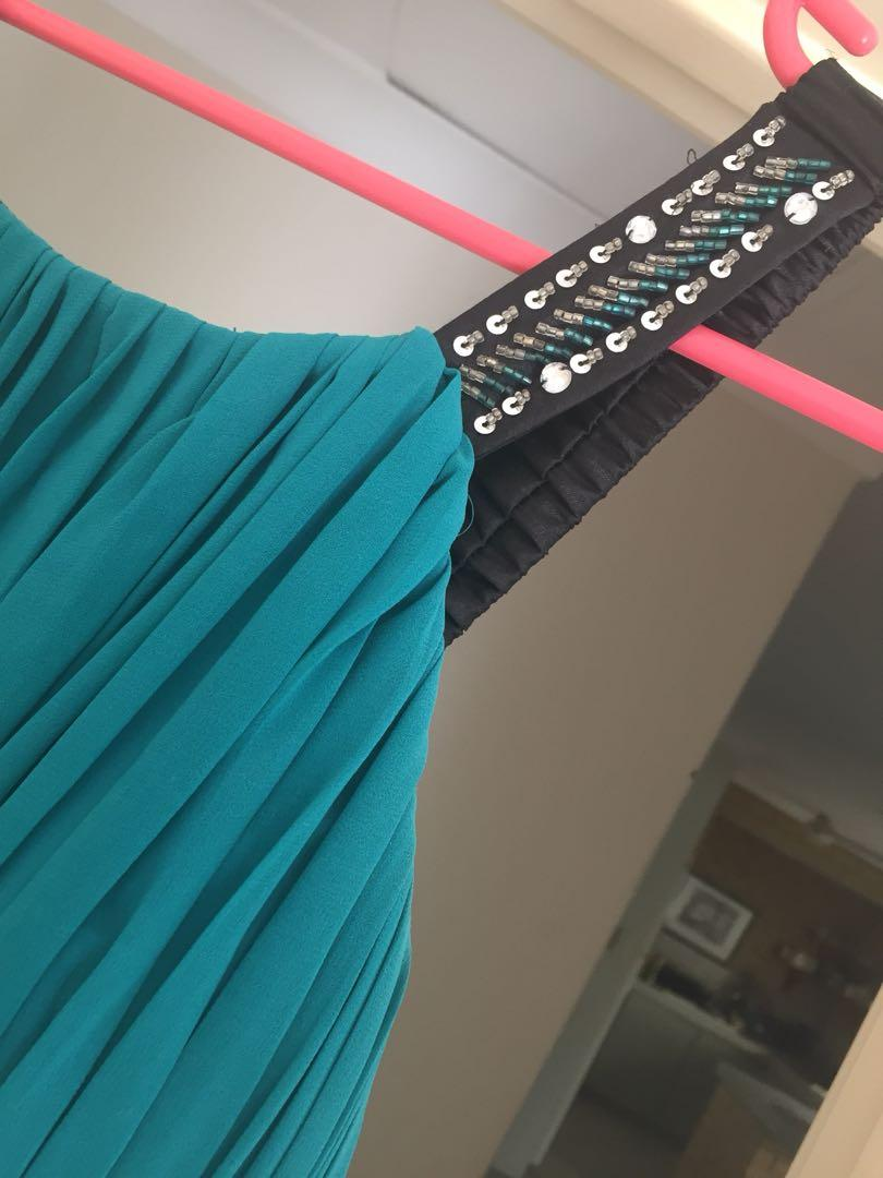 Turquoise formal long ball dress