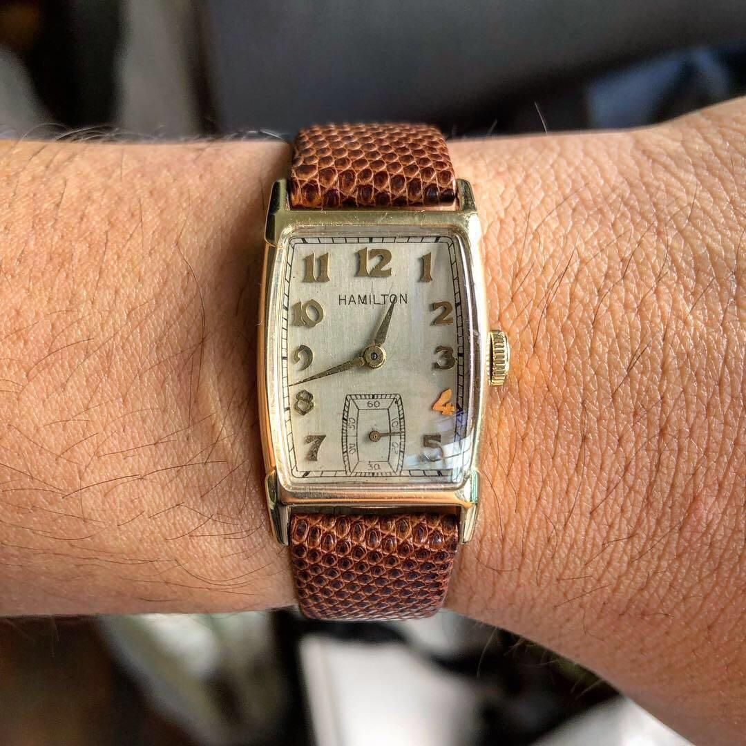 Vintage 18K Gold Hamilton Donald Dress Watch