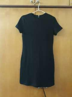 TEM Black Ribbed Dress