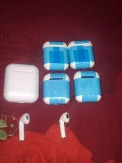 Airpod i9s keluaran baru lebih tipis dan mini mirip bgt sm yg asli apple