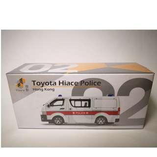 全新絕版 Tiny 02 Toyota Hiace Police 警察 警車 第三版 微影.