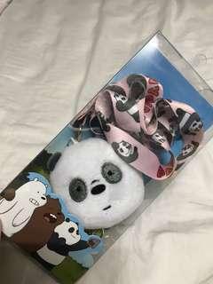 WE BARE BEARS Panda Lanyard