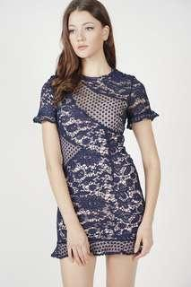 🚚 MDS Marya Lace Dress Midnight Size S