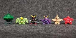 SD Gundam Full Color 大型機體自製組合 初版四穴 高達 高達扭蛋