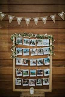 [Rent] Wooden Photos Frame Display