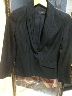 Invio black blazer stripes