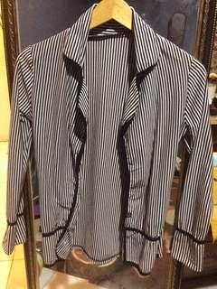 Casual stripes blazer