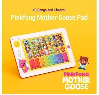 🚚 *Free Mail* 100% Authentic or refundable. Pinkfong Baby Shark Song Pad Tablet with Book (English) from Korea. Mother Goose Rhymes