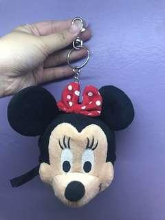 Minnie Mouse keychain with mirror & zip