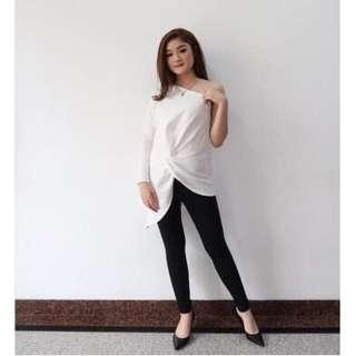 Asimetris blouse white