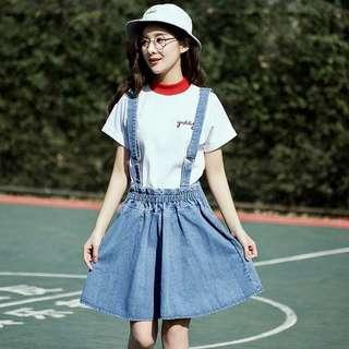 Uk12 L size denim pinafore