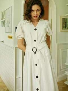 Vintage white dress, 復古白色連身裙