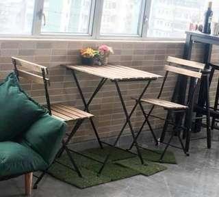 戶外餐桌椅三件組合