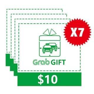 Grab $70 E-Voucher (7 x $10) Promo Code
