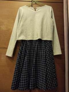 🚚 日本品牌INDEX 格子洋裝