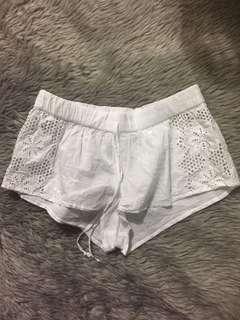 M: WHITE SEXY COTTON SHORTS