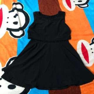SIMPLE A-LINE BLACK DRESS