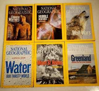 🚚 National Geographic Magazines 2010