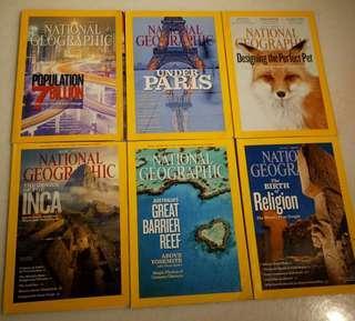 🚚 National Geographic Magazines 2011
