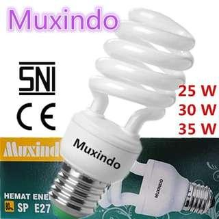 (10 Pc) Lampu Bohlamp Muxindo 25W-30W