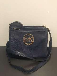 Navy blue michael kors crossbody/satchel  bag