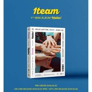 [PREORDER] 원팀 (1TEAM) - HELLO! (1ST Mini Album)