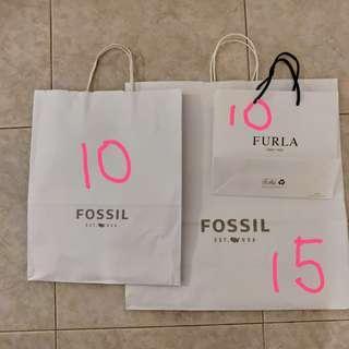 Furla Fossil Paper Bags