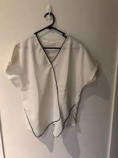 Basic asymmetrical blouse