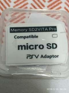 🚚 playstation vita SD2VITA pro v6 microSD adaptor for modded psv only