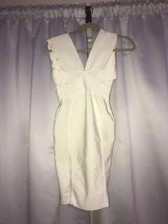 White bandage dress