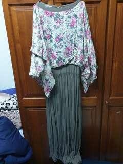 Batwing top Dress