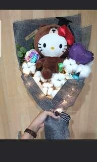 Graduation Hello Kitty x Line Baby Cotton Roses bouquet