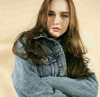 Jaket jeans grey washing jalet denim cod bandung