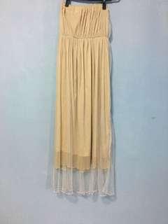 🚚 雙層金紗洋裝