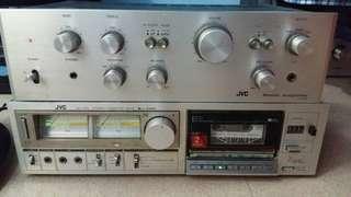 JVC Amplifier & Tape Deck (Vintage Hifi)
