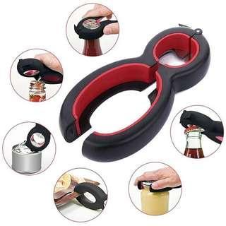 6 in 1 Multi-Function Twister/Cap Opener/Jar Gripper