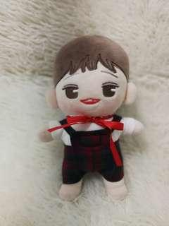 20cm doll suspender set (red checkered)