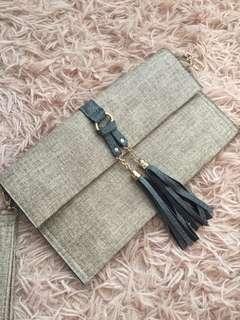 HAND BAGS 淺棕細紋包